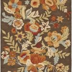 Hand hooked Blossom ECGSBL0M915A Brown, Multi Wool Rug 5'0″ x 8'0″