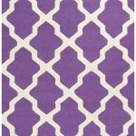 Handmade Cambridge ECGSCA0M121K Ivory, Purple Wool Rug 2'6″ x 4'0″