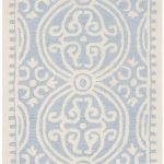 Handmade Cambridge ECGSCA0M123A Ivory, Light Blue Wool Rug 5'0″ x 8'0″