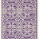 Handmade Cambridge ECGSCA0M123K Ivory, Purple Wool Rug 2'6″ x 10'0″