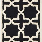 Handmade Cambridge ECGSCA0M125E Black, Ivory Wool Rug 2'6″ x 4'0″