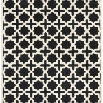 Handmade Cambridge ECGSCA0M125E Black, Ivory Wool Rug 3'0″ x 5'0″