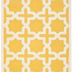 Handmade Cambridge ECGSCA0M125Q Gold, Ivory Wool Rug 5'0″ x 8'0″