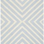 Handmade Cambridge ECGSCA0M129A Ivory, Light Blue Wool Rug 8'0″ x 10'0″