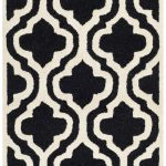 Handmade Cambridge ECGSCA0M132E Black, Ivory Wool Rug 2'6″ x 14'0″