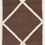 Handmade Cambridge ECGSCA0M136H Dark Brown, Ivory Wool Rug 2'0″ x 3'0″