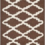Handmade Cambridge ECGSCA0M137H Dark Brown, Ivory Wool Rug 2'0″ x 3'0″
