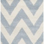 Handmade Cambridge ECGSCA0M139A Ivory, Light Blue Wool Rug 5'0″ x 8'0″