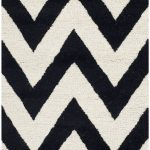 Handmade Cambridge ECGSCA0M139E Black, Ivory Wool Rug 3'0″ x 5'0″