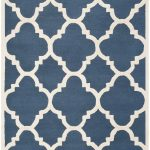 Handmade Cambridge ECGSCA0M140G Ivory, Navy Wool Rug 8'0″ x 10'0″