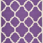 Handmade Cambridge ECGSCA0M140K Ivory, Purple Wool Rug 5'0″ x 8'0″