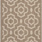 Courtyard ECGSCY06926 Bone, Brown Rug 2'3″ x 6'7″