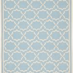 Hand woven Dhurries ECGSDH0U545B Ivory, Light Blue Wool Dhurrie 6'0″ x 9'0″
