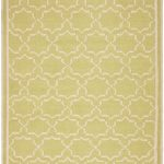 Hand woven Dhurries ECGSDH0U545C Ivory, Light Green Wool Dhurrie 8'0″ x 10'0″
