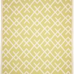 Hand woven Dhurries ECGSDH0U552A Ivory, Light Green Wool Dhurrie 9'0″ x 12'0″