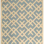 Hand woven Dhurries ECGSDH0U552B Ivory, Light Blue Wool Dhurrie 8'0″ x 10'0″