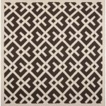 Hand woven Dhurries ECGSDH0U552C Chocolate, Ivory Wool Dhurrie 6'0″ x 6'0″ (1) (1)