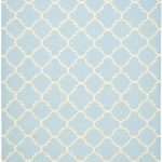 Hand woven Dhurries ECGSDH0U554B Ivory, Light Blue Wool Dhurrie 8'0″ x 10'0″