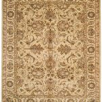 Hand-knotted Dynasty ECGSDY0207A Beige, Ivory Wool Rug 5'0″ x 8'0″
