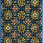 Hand hooked Four Seasons ECGSFR0S426A Blue Rug 2'6″ x 4'0″