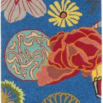 Hand hooked Four Seasons ECGSFR0S470A Blue, Red Rug 2'6″ x 4'0″