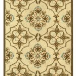 Hand hooked Chelsea ECGSHK0376A Green, Ivory Wool Rug 2'6″ x 6'0″