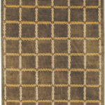 Hand-knotted Lexington ECGSLX0104A Beige, Soft Green Wool Rug 6'0″ x 9'0″