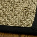 Natural Fiber ECGSNF0114C Black, Natural SeaGrass Rug 5'0″ x 8'0″