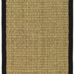 Natural Fiber ECGSNF0114C Black, Natural SeaGrass Rug 2'6″ x 8'0″