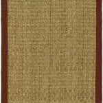 Natural Fiber ECGSNF0114D Natural, Red SeaGrass Rug 2'6″ x 16'0″
