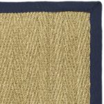Natural Fiber ECGSNF0115E Blue, Natural SeaGrass Rug 5'0″ x 8'0″