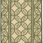Hand hooked Wilton ECGSWI0L330A Green, Taupe Wool Rug 2'3″ x 10'0″