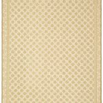 Hand hooked Wilton ECGSWI0L335A Ivory, Taupe Wool Rug 5'6″ x 8'6″