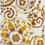 Hand hooked Wilton ECGSWI0L343A Brown, Ivory Wool Rug 4'0″ x 6'0″