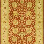 Handmade Antiquities ECGSAT021A Rust Wool Rug 5'0″ x 8'0″