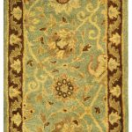 Handmade Antiquities ECGSAT021H Beige, Blue, Brown Wool Rug 2'0″ x 3'0″