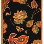 Hand hooked Chelsea ECGSHK0209C Black, Orange Wool Rug 2'6″ x 12'0″